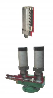 SAFETY VALVES FOR LPG, MANIFOLD FOR SAFETY VALVES FOR LPG STORGE TANK